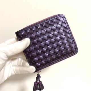 本革 二つ折り財布 メタリック牛革 レディース 可愛い 大容量 軽量 折り財布(財布)