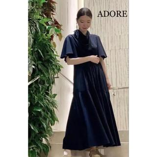 ADORE - 新品未使用 ADORE ティアードロングワンピース スカーフ付き