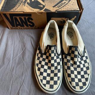 ヴァンズ(VANS)のVANS 90s Made in USA SLIP ON Checker 白黒(スニーカー)