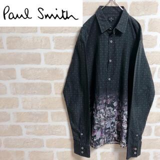 Paul Smith - Paul Smith ポールスミス シャツ 長袖 花柄 幾何学 黒