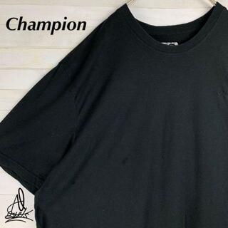 Champion - 《ワンポイント刺繍ロゴ》Champion チャンピオン XXL♫ブラック 黒