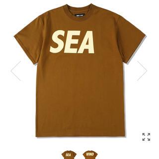 SEA - ウィンダンシー WIND AND SEA LOGO ロゴ Tシャツ ブラウン M