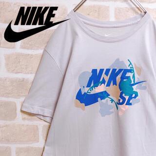 NIKE - NIKE ナイキ Tシャツ 白T スウッシュ デカロゴ カラフル 人気 M