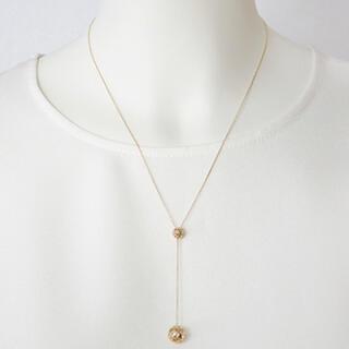 ポンテヴェキオ(PonteVecchio)の極美品♡Ponte Vecchioポールスライド付ネックレス♡イエローゴールド(ネックレス)
