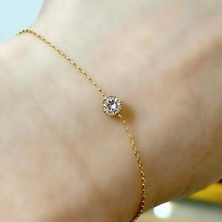 ジュエリーツツミ(JEWELRY TSUTSUMI)のジュエリーツツミ、k18、ダイヤモンド、ブレスレット、0.15ct、箱付き。(ブレスレット/バングル)