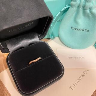 Tiffany & Co. - ティファニーのダイヤモンド9粒カーブドリングローズゴールド