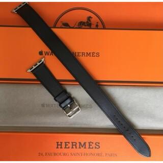 エルメス(Hermes)のアップルウォッチ エルメス純正革バンド ドゥブルトゥール ブルーインディゴ(その他)