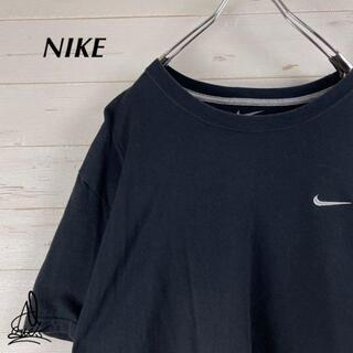 NIKE - 《刺繍ロゴ》NIKE ナイキ Tシャツ XXL☆ブラック 黒 スウォッシュ