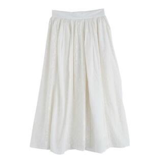 axes femme - 縦切り替え刺繍スカート