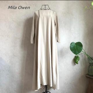 Mila Owen - Mila Owen ミラオーウォン 後スリットデザイン布帛マキシワンピース