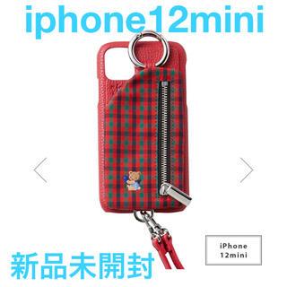 ファミリア(familiar)のiPhone12mini対応【新品】familiar ajew ケース(iPhoneケース)
