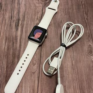 Apple Watch - 【新品同様】Apple watch series3 38mm GPS シルバー