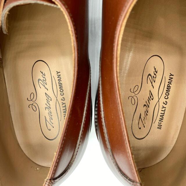 試し履きのみの極美品 トレーディングポスト Uチップ 茶 27.5〜28.0 メンズの靴/シューズ(ドレス/ビジネス)の商品写真