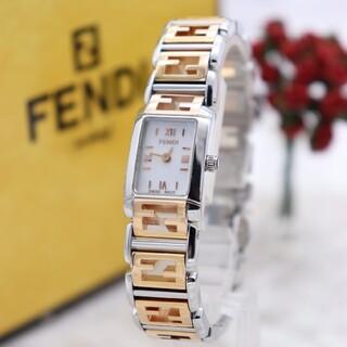 FENDI - 正規品【新品電池】FENDI 1200L/ピンクゴールド×ホワイトシェル 美品
