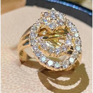 K18yg ダイヤモンド 1.00ct リング