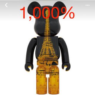 MEDICOM TOY - BE@RBRICK EIFFEL TOWER GOLDEN GOWN 1000%