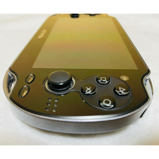 PlayStation Vita(プレイステーションヴィータ)のPlayStation Vita PCH-1000 ZA01 クリスタルブラック エンタメ/ホビーのゲームソフト/ゲーム機本体(家庭用ゲーム機本体)の商品写真