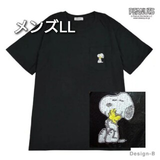 PEANUTS - スヌーピー Tシャツ 半袖 メンズLL 胸ポケット刺繍あり🎵