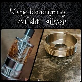 Vape beautyring Af-slit silver