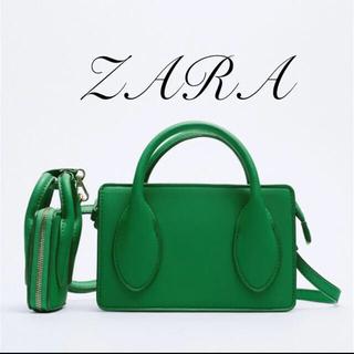 ZARA - ZARA フラップ・バンド付きミニショルダーバッグ グリーン