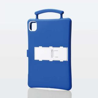 エレコム(ELECOM)のiPad Pro 11インチ用抗菌耐衝撃シリコンケース ブルー(タブレット)