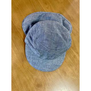 ムジルシリョウヒン(MUJI (無印良品))の【美品】無印良品 キッズ ベビー 帽子 キャスケット 50 送料無料(帽子)