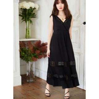 FRAY I.D - herlipto Lace-trimmed Jersey Long Dress