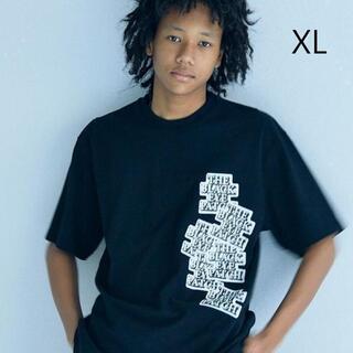 XL ブラックアイパッチ ステッカーボム Tシャツ 黒