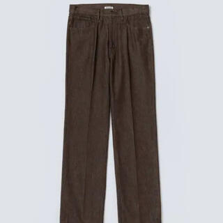 COMOLI - HARD TWIST DENIM 5P PANTS BROWN