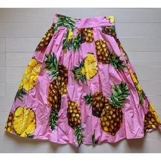 DOLCE&GABBANA - DOLCE&GABBANA ドルチェ&ガッバーナ◆パイナップル柄 スカート 36