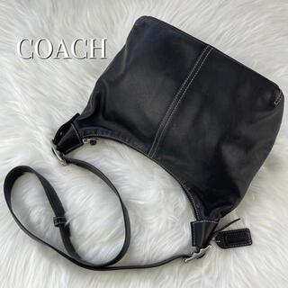 COACH - coach コーチ ショルダーバッグ 黒 ブラック レザー 本革