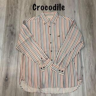 クロコダイル(Crocodile)のストライプシャツクロコダイル早い者勝ち美品(Tシャツ/カットソー(半袖/袖なし))