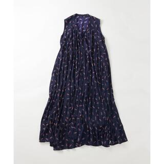 フォーティファイブアール(45R)の45R レーヨンの小紋柄ドレス ワンピース 定価6万1600円(ロングワンピース/マキシワンピース)