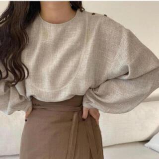 カスタネ(Kastane)のlawgy original shoulder button blouse (シャツ/ブラウス(長袖/七分))