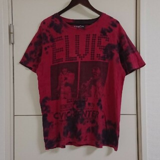 エルヴィスプレスリー Tシャツ 古着 ブリーチ加工 ビッグプリント