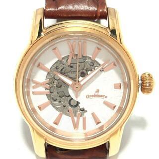 オロビアンコ(Orobianco)のオロビアンコ 腕時計 - OR-0059A 裏スケ 白(腕時計)