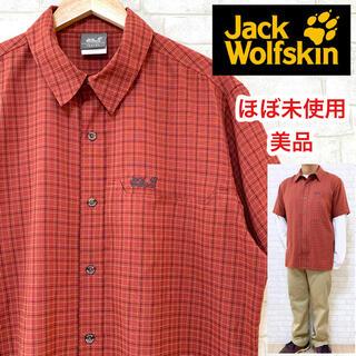 Jack Wolfskin - ☆ほぼ未使用☆ Jack Wolfskin ジャックウルフスキン チェックシャツ