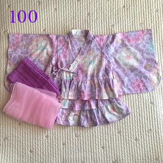 mezzo piano - メゾピアノ 浴衣 100 紫