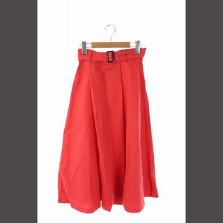 アナイ(ANAYI)のアナイ 18SS ラップ風スカート ロング フレア 34 赤 /IS(ロングスカート)