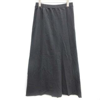 フレームワーク(FRAMeWORK)のフレームワーク ミニ裏毛スカート ロング マキシ丈 36 S グレー (ロングスカート)