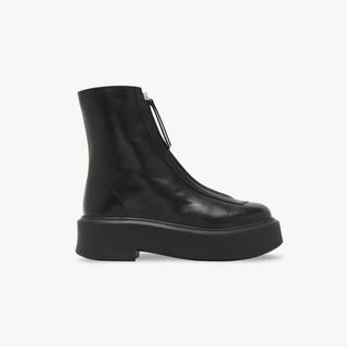 Ron Herman - THE ROW ザロウ レザー Zipped Boot 1 ジップブーツ 36