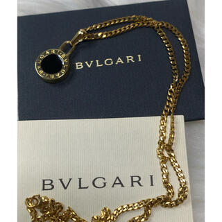 BVLGARI - 【正規新品】BVLGARI チャーム ペンダント ネックレス +革紐 チェーン