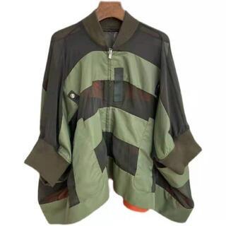 sacai - Sacai サカイ シャツ 長袖 継接ぎ チュール 透明感 バタフライシャツ