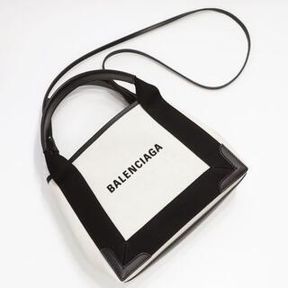 Balenciaga - バレンシアガ  カーフスキンレザー キャンバス トートバッグ