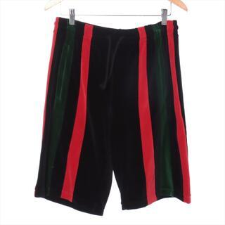 グッチ(Gucci)のグッチ  ベロア S ブラック メンズ ショートパンツ(ショートパンツ)