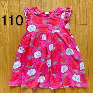NEXT - 【美品】110 4-5y NEXT ネクスト ワンピース りんご 赤 ピンク