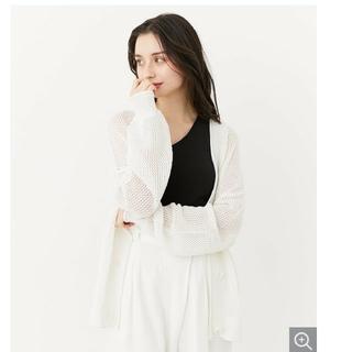 rienda - 完売!新品未使用タグ付き☆リエンダ 透かし編みルーズニットカーディガン