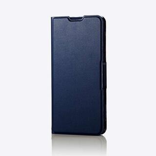 エレコム(ELECOM)のAQUOS zero5G basic 用 薄型ソフトレザーケース ネイビー(Androidケース)