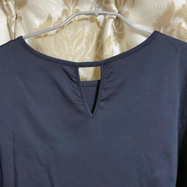 PLST(プラステ)のプラステ コットンパフスリーブTシャツ ネイビー メンズのトップス(Tシャツ/カットソー(半袖/袖なし))の商品写真