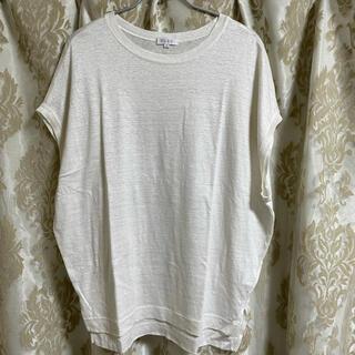 PLST - プラステ フレンチリネンジャージーリラックスTシャツ 白 半袖